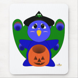 Huggable Witch Peacock Mouse Mat