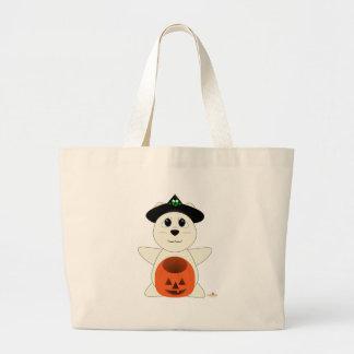 Huggable Witch Polar Bear Canvas Bag