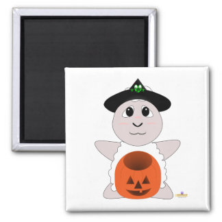Huggable Witch White Sheep Magnet