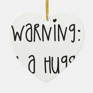 Hugger 1 ceramic ornament