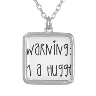 Hugger 1 silver plated necklace