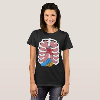 Hugging Anatomy Costume Funny Skeleton Organ Hug n T-Shirt