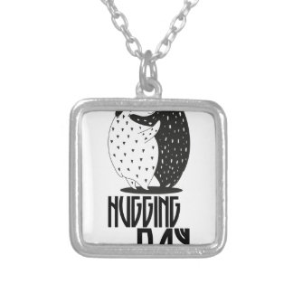 Hugging Day - Appreciation Day Silver Plated Necklace