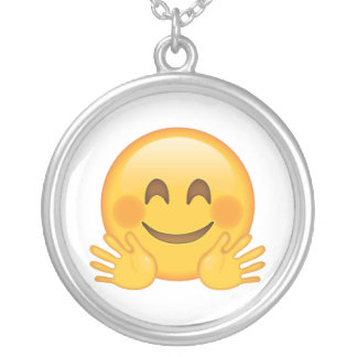Hugging Face - Emoji Silver Plated Necklace