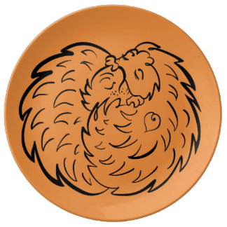 Hugging Hedgehogs 4 Wild Animal Lovers Craftiespot Plate