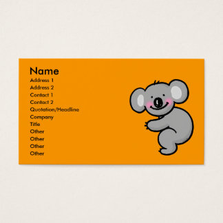 Hugging Koala bear Business Card