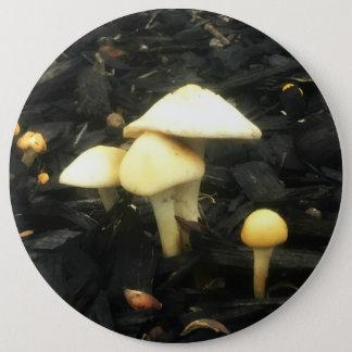 Hugging Mushrooms 6 Inch Round Button