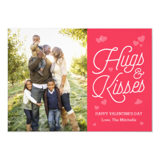 "Hugging Script Valentine's Day Photo Cards 5"" X 7"" Invitation Card"