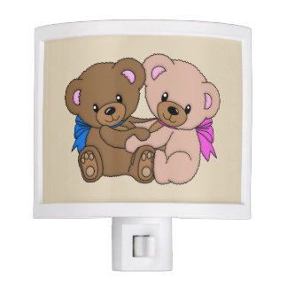 Hugging Teddy Bears Nite Lights
