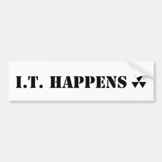 Hugh Howey I.T. Happens WOOL Bumper Sticker