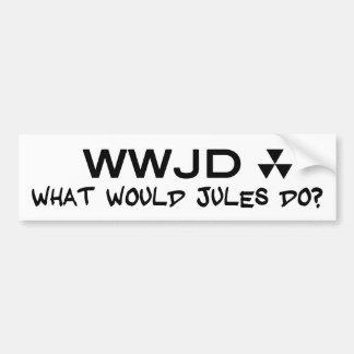 Hugh Howey What Would Jules Do Sticker Bumper Sticker