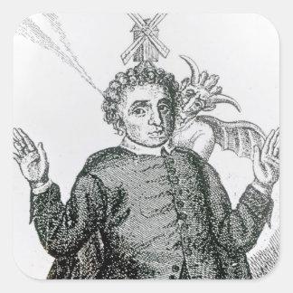 Hugh Peter  fiery army preacher Square Sticker
