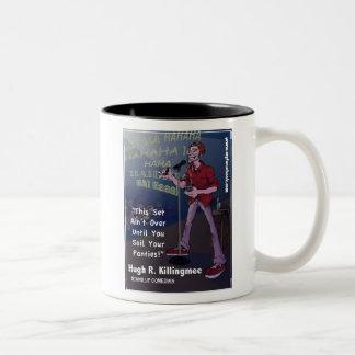 Hugh R. Killingmee- myFarcebook.com Stand-Up Comed Two-Tone Coffee Mug