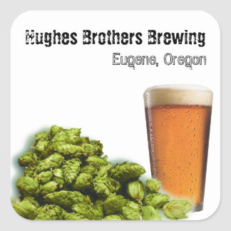 Hughes Brothers Brewing 1 Square Sticker