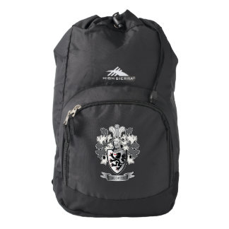 Hughes Family Crest Coat of Arms Backpack