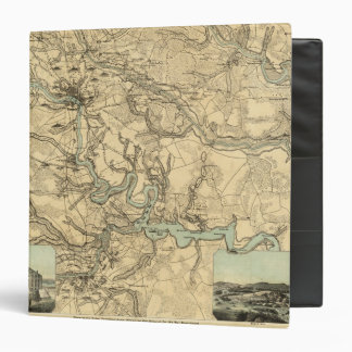 Hughes Military Map Of Richmond and Petersburgh 3 Ring Binders