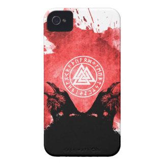 Huginn and Muninn Odin's Ravens iPhone 4 Case-Mate Case