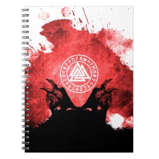 Huginn and Muninn Odin's Ravens Notebook