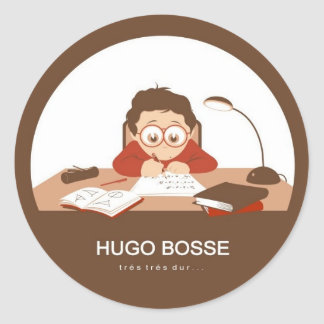 Hugo Classic Round Sticker