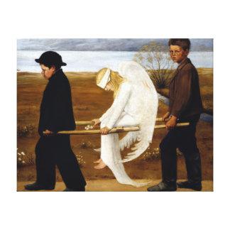 Hugo Simerg The Wounded Angel Canvas Print