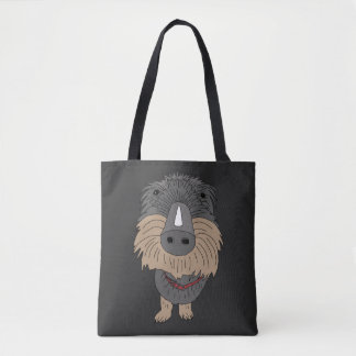 Hugo the sausage dog tote bag