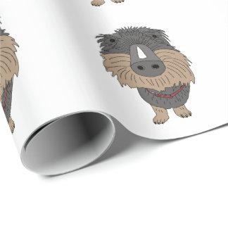 Hugo the sausage dog wrapping paper