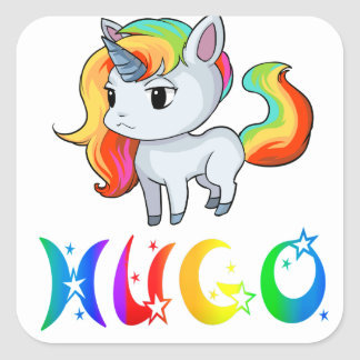 Hugo Unicorn Sticker