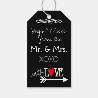 Hugs and Kisses From The Mr. and Mrs. Hand Written Gift Tags