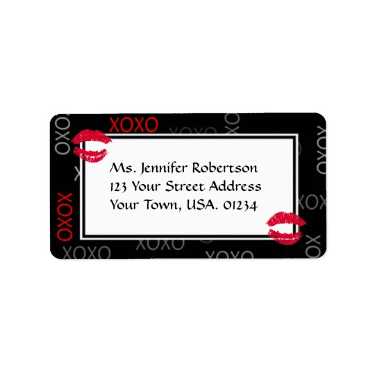 Hugs and Kisses Kiss Mark Wedding Address Labels