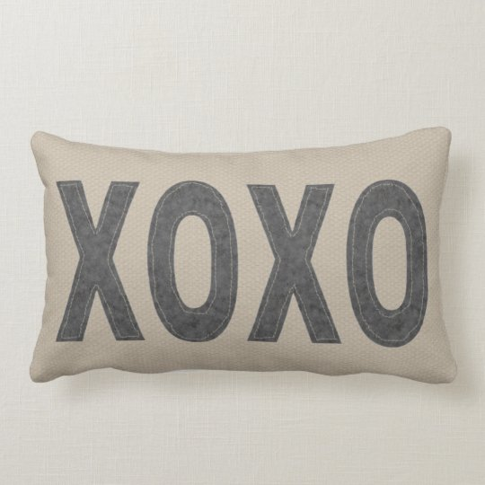 Hugs and Kisses Lumbar Pillow