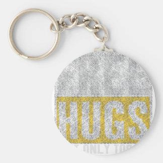 Hugs design basic round button keychain