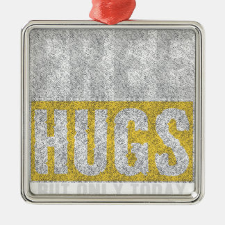 Hugs design metal ornament