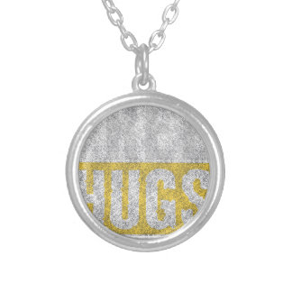 Hugs design silver plated necklace