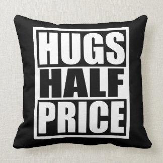 Hugs Half Price Throw Pillow