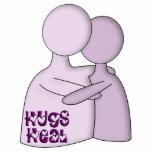 Hugs Heal Symbol Purple Photo Cutouts