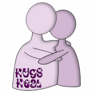 Hugs Heal Symbol Purple Standing Photo Sculpture