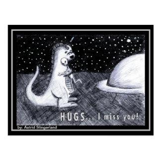 HUGS... I miss you Postcard