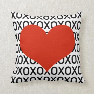Hugs, Kisses & a Big Heart Throw Pillow