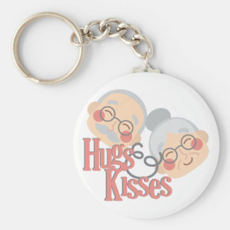 Hugs & Kisses Basic Round Button Keychain