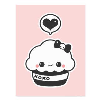 Hugs & Kisses Cupcake Postcard