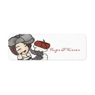 Hugs & Kisses Return Address Label