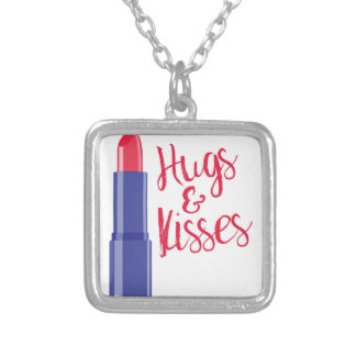 Hugs & Kisses Silver Plated Necklace