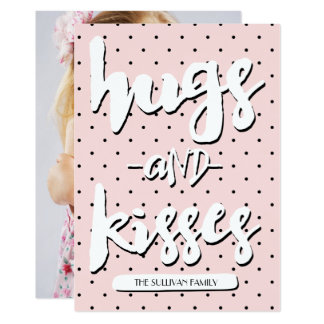 Hugs & Kisses | Valentine's Day Photo Card