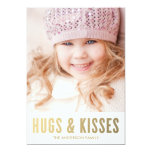 "Hugs & Kisses | Valentine's Day Photo Card 5"" X 7"" Invitation Card"