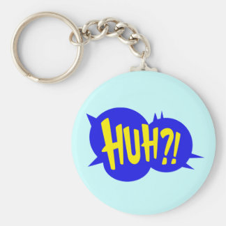 HUH! COMIC BOOK SPEECH BUBBLE KEYCHAIN
