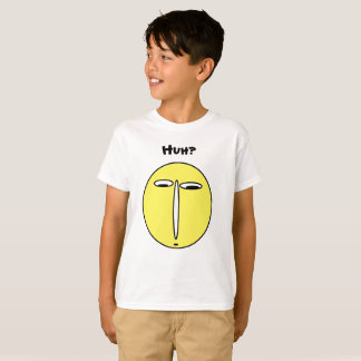 Huh Funny Clueless Man Face T-Shirt