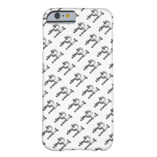 Huh?! hand drawn black & white punctuation pattern barely there iPhone 6 case