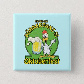 Huhnertanz Oktoberfest 2 Inch Square Button