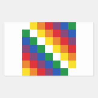 Huipala/Wipala Flag. Andean Qulla Suyu. Bolivia Sticker