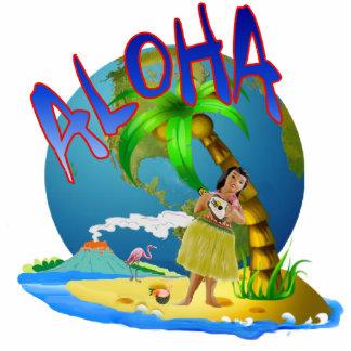 Hula Aloha Standing Photo Sculpture